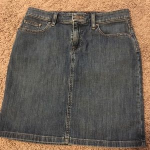 LL Bean Denim Skirt